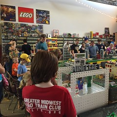 Good crowd in the #GMLTC room at #brickmania today