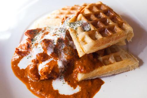 Butter Chicken & Waffles @ Mango Shiva