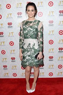 Emmy Rossum White Pumps Celebrity Style Women's Fashion