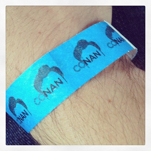 I went to see Conan today. For those who see the show tonight: Biscuts!