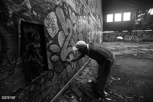 """I don't consider myself a street artist, I do graffiti"" -SKI"