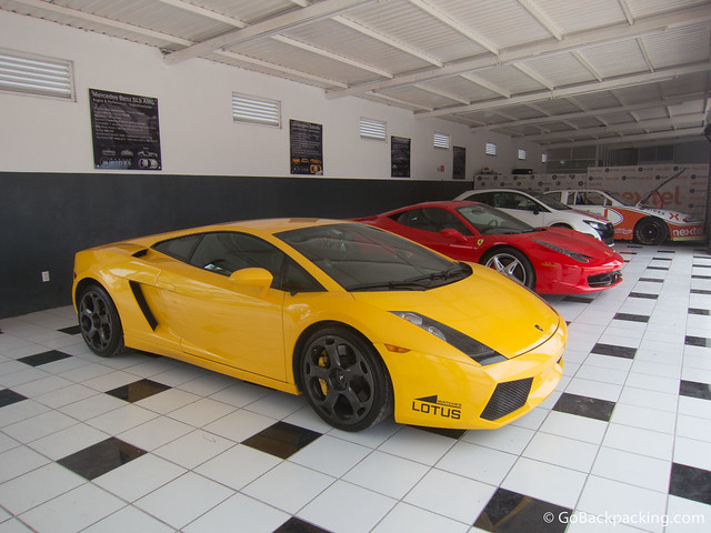 A yellow Lamborghini Gallardo