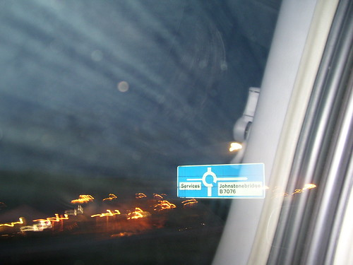 uk blur window car night lights scotland town motorway unitedkingdom britain blurred galloway johnstonebridge inayoutubevideo