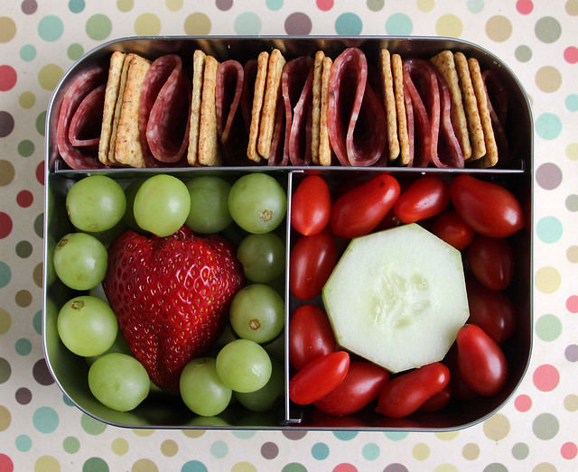 Red and Green Preschool Bento #456