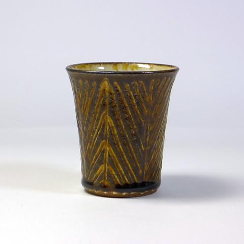 ふもと窯「フリーカップ/象嵌(飴)A」