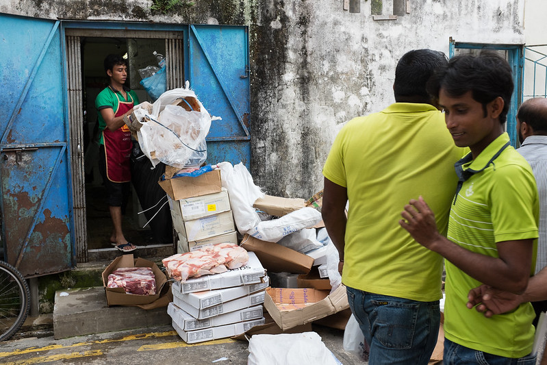 Life in a back alley along Little India.
