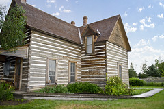 looking WSW at corner of house - Tinsley Living Farm - Museum of the Rockies - 2013-07-08