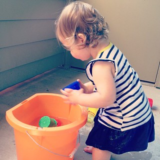 The bucket: an apartment-size baby pool.
