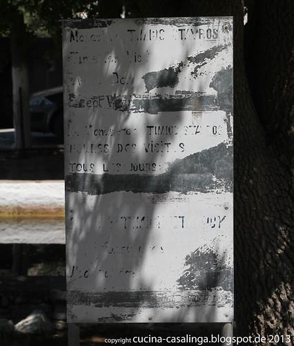 Kloster Hinweisschild