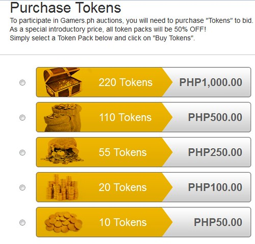gamers ph tokens