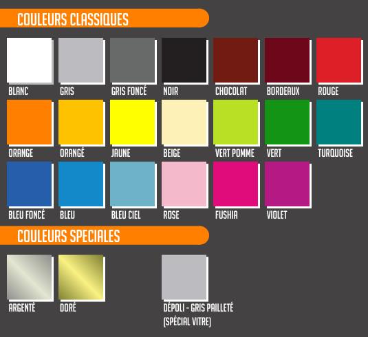 Choisissez la couleur de votre sticker.
