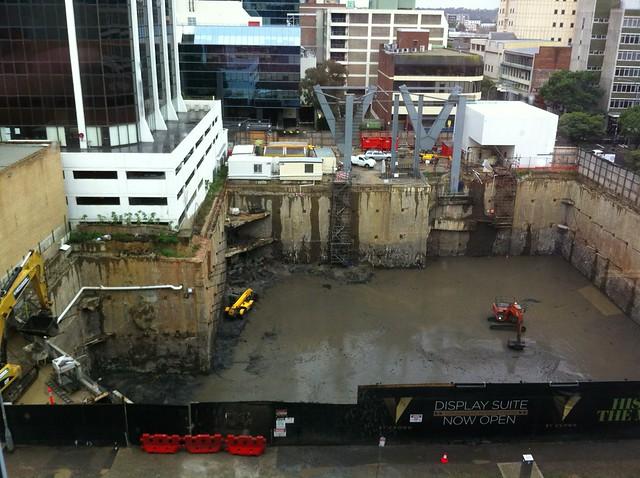 Damp Construction Site