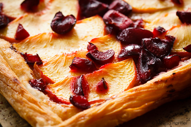 rustic peach, cherry honey tart | eyes bigger than my stomach