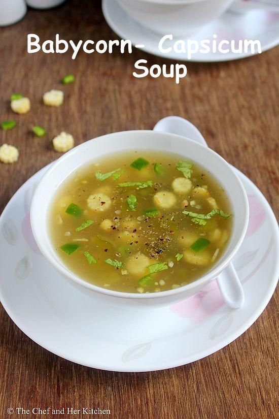 babycorn capsicum soup