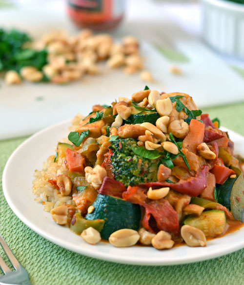 Chicken stir fry with thai peanut sauce forumfinder