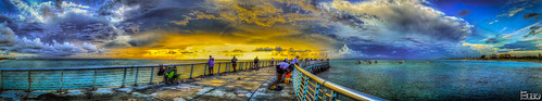 ocean storm beach clouds sunrise pier fishing florida panoramic inlet hdr boyntonbeach photomatix topazplugins