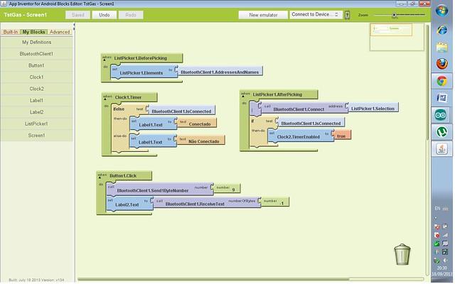 Mostrar Valor de Sensor no Android (App Inventor) - AJUDA!!!