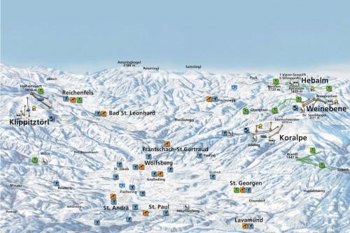 Lavanttal - mapa sjezdovek
