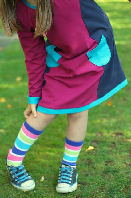colourblock panel pinafore hem