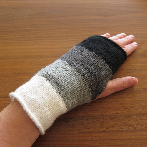 Just Crafty Enough   Project: Knit Ombre Handwarmers