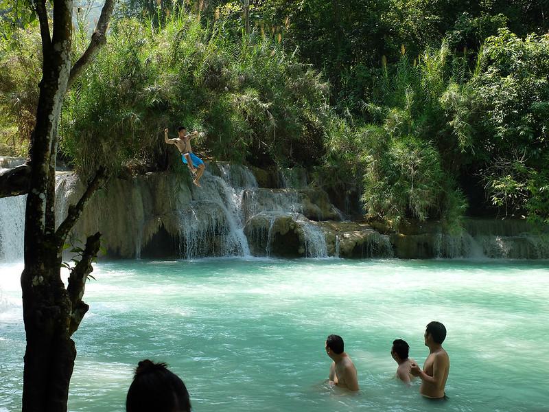 Luang Prabang: Kuang Si waterval