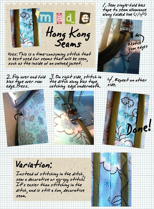 MADE- Hong Kong Seam Tutorial