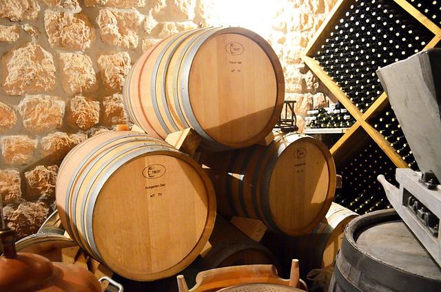 Oak barrels, Skar, Lekri Winery, Lapad, Dubrovnik, Croatia
