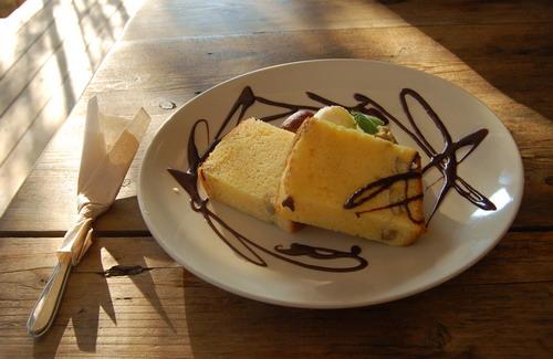 マロン シフォンケーキ
