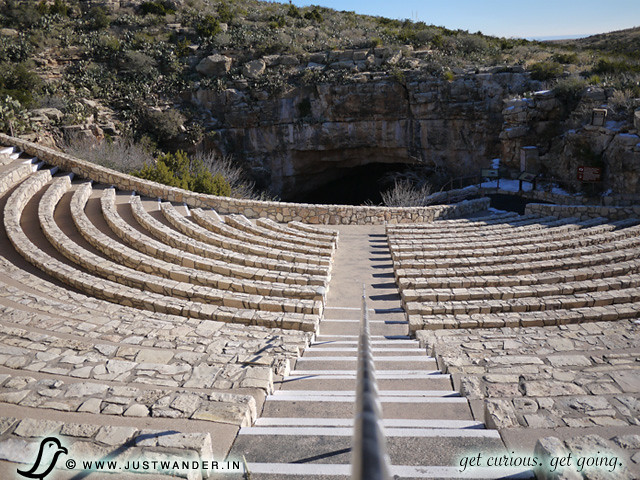 PIC: The Bat Flight Amphitheater at the Natural Entrance of Carlsbad Caverns National Park