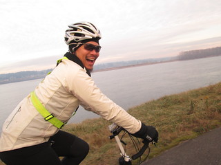 Patrick on the Marine Drive bike path