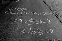 Demo against deportations by Air Berlin ...