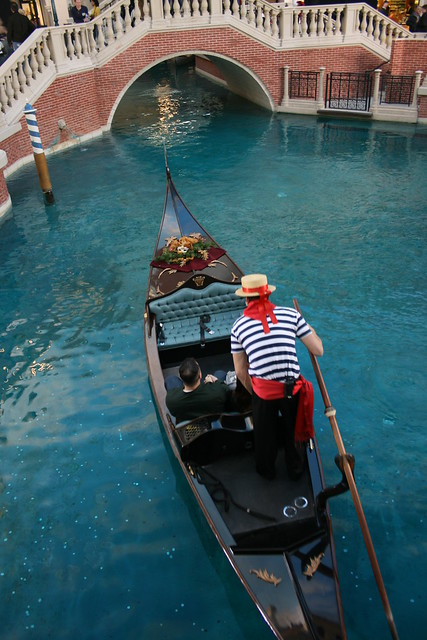 The Venetian Gondola Rides in Las Vegas, Nevada