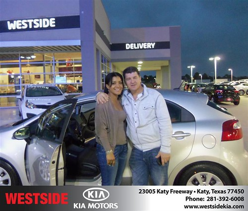 Happy Anniversary to Javier A Echeverri on your 2013 #Kia #Rio from John Buchan  and everyone at Westside Kia! #Anniversary by Westside KIA