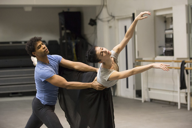 The Royal Ballet Giselle in rehearsal, Natalia Osipova as Giselle; Carlos Acosta as Albrecht. (Clore Studio)