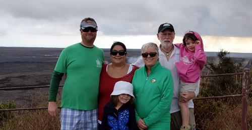 travel family winter vacation island hawaii emily jill larry pete cropped aviary bigisland 500views hawaiivolcanoesnationalpark evie madelyn mady evangeline 2014 pete4ducks peteliedtke kilueacrater