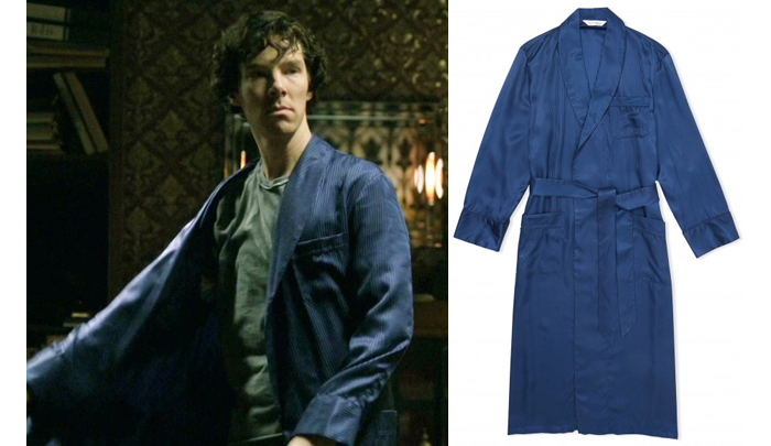 cheap for sale meticulous dyeing processes enjoy free shipping Fashion, Frankly: Sherlock wears Derek Rose Dressing Gowns