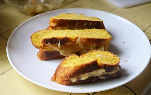 Banana Stuffed Challah French Toast via LittleFerraroKitchen.com