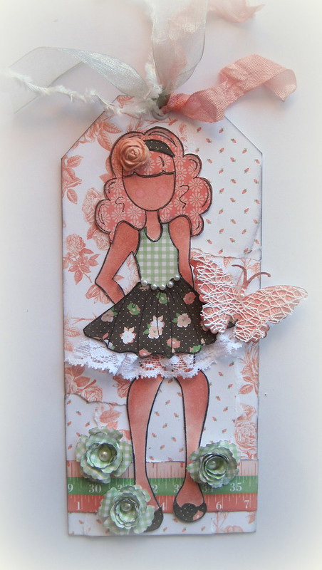 Julie Nutting Doll Tag Peach - Designs By Dawn Rene 1