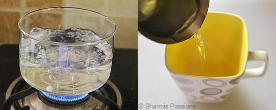 How to make green tea - Step1
