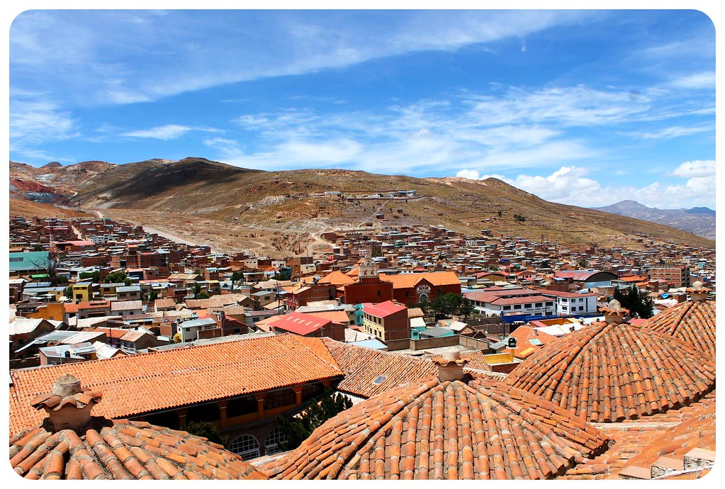 potosi red roofs and city view