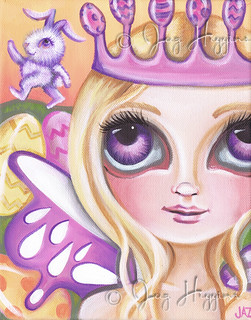 """Easter Fairy Princess"" Painting by Jaz Higgins"
