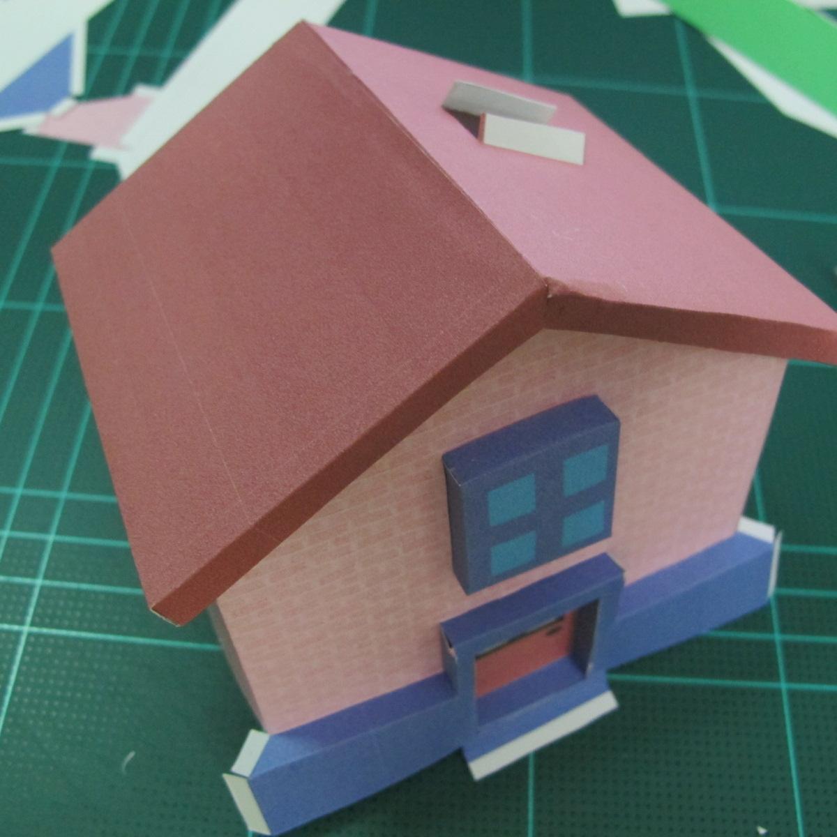 วิธีทำโมเดลกระดาษเป็นรูปบ้าน (Little House Papercraft Model) 011