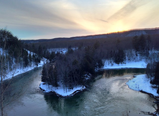 Manistee River Sunset
