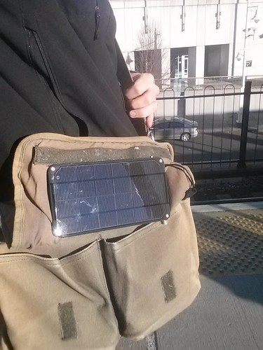 Solar Messenger Bag, deployed!