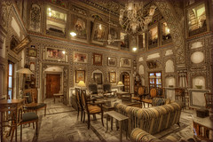 37/2014 Mandawa IND - Mandawa Castle  interior decoration.......EXPLORE!!!!