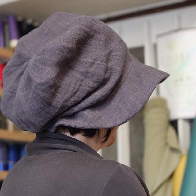 コムさん、帽子まで作っちゃいました〜(^O^)/私のも速攻で頼みました!ふわっとしていて、被ってないみたいに軽いです(^O^)/