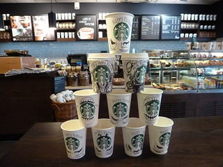 Starbucks. Southend. Happy Easter cups are coming to our store decorated by our partners. Magician of the day - Becca. 18 Apr'14