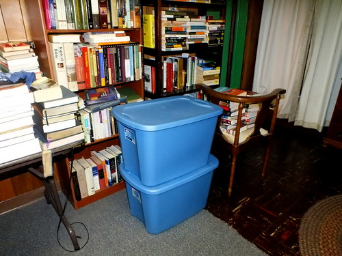 two plastic containers containing diaries 2009 through 2014