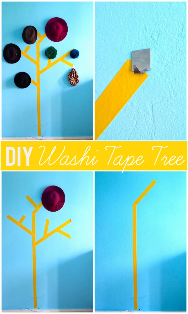 13983003572 ca1a0e1c67 o DIY Washi Tape Tree Hat Holder