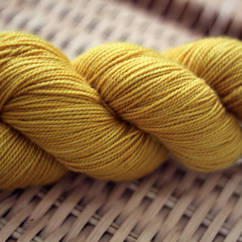 Elf Sock MCN - Goldenrod
